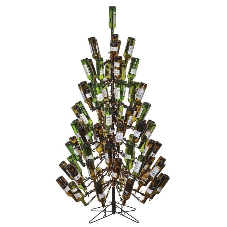 7 foot tall wine bottle christmas tree holds 83 empty bottles