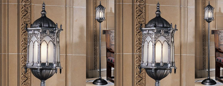 Aberdeen Manor Gothic Lantern Floor Lamp - The Green Head