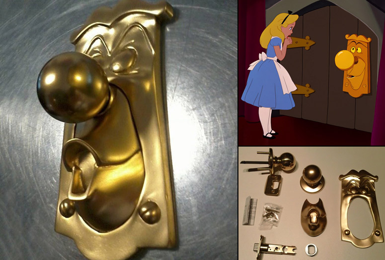 Alice In Wonderland Inspired Functional Door Knob
