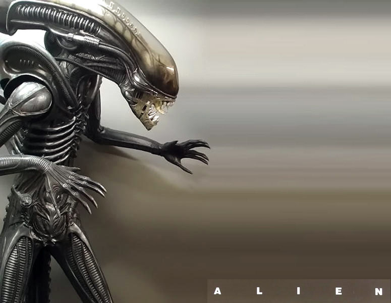 Alien Warrior Lifesize Statue