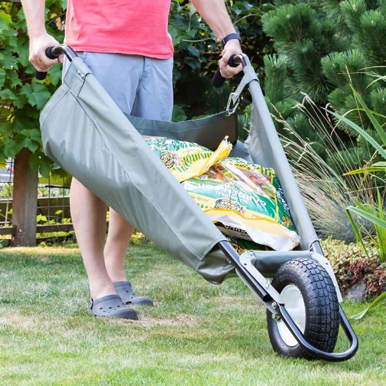 Allsop Wheeleasy Folding Yard Cart, Allsop Home And Garden Wheeleasy