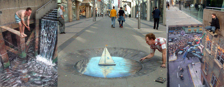Amazing Sidewalk Art By Julian Beever The Green Head