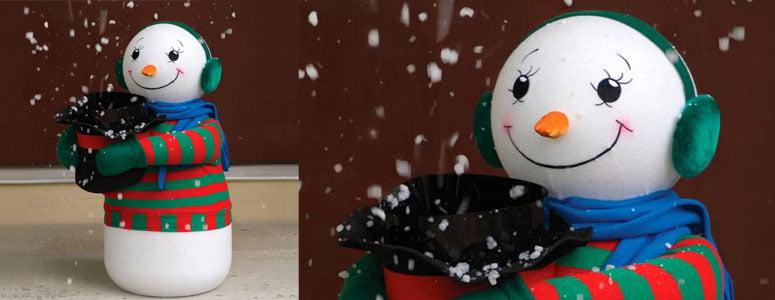 amazing snow flurry generating snowman
