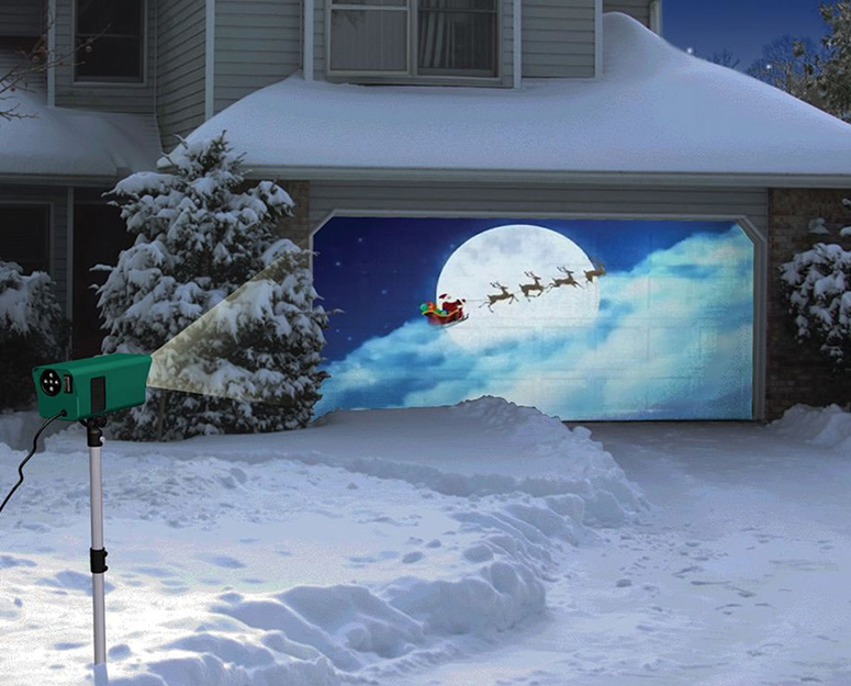 Animated Holiday Scenes Projector The Green Head