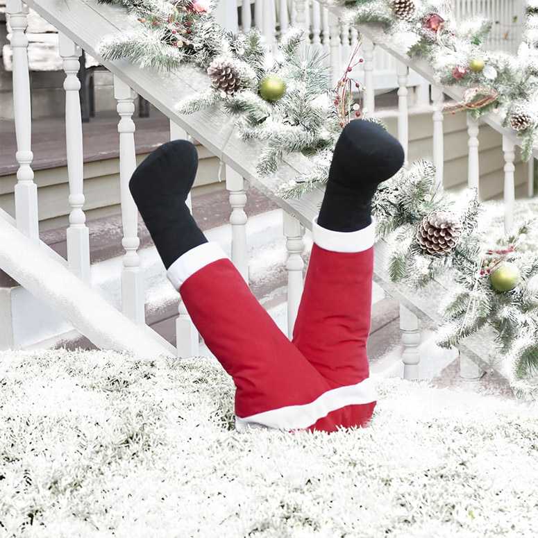 Animated Kicking Santa Legs