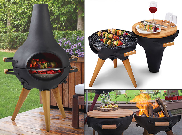 Aniva Cosa BBQ - Transforming Chiminea / Grill / Fire Pit - Aniva Cosa BBQ - Transforming Chiminea / Grill / Fire Pit - The