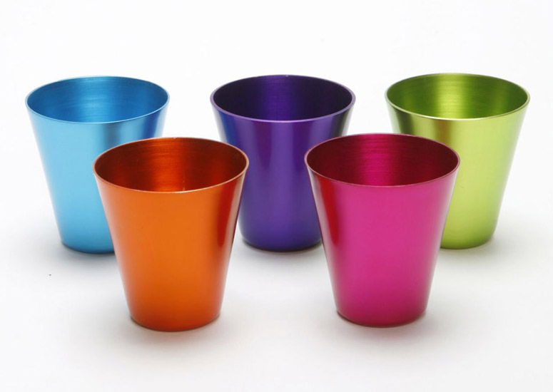 Anodized Aluminum Shot Glasses