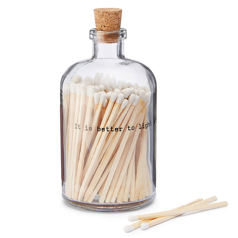 Apothecary Match Bottle With Striker