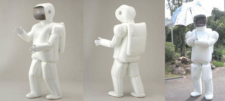 Asimo Robot Costume The Green Head