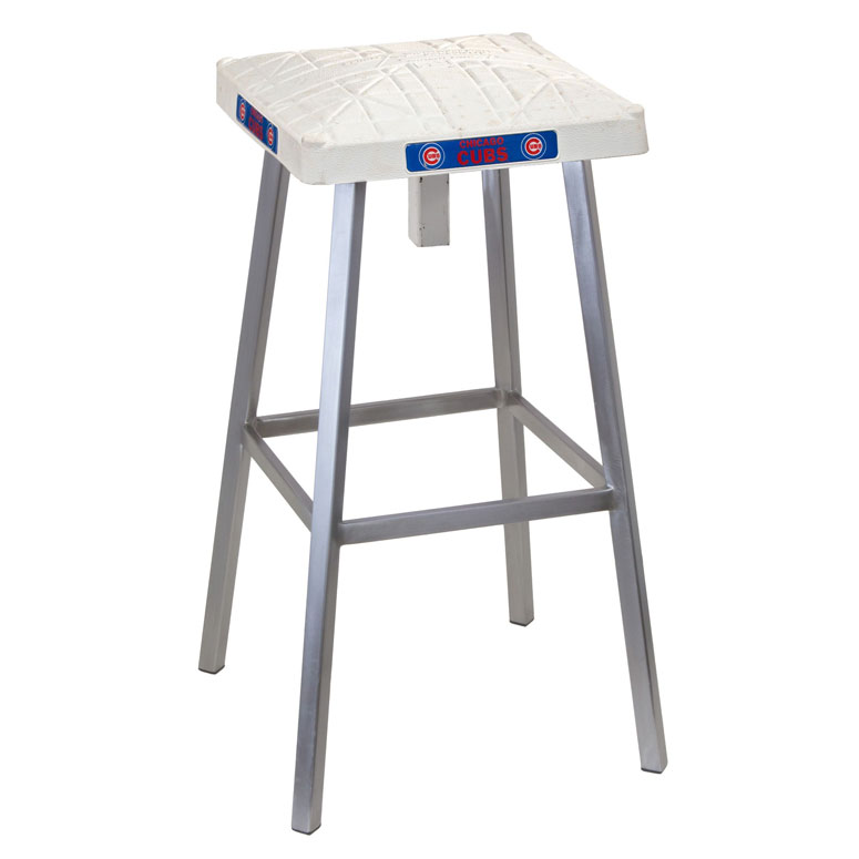 Authentic Baseball Base Bar Stool