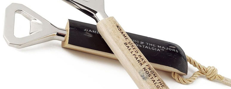 authentic baseball bat bottle openers the green head. Black Bedroom Furniture Sets. Home Design Ideas