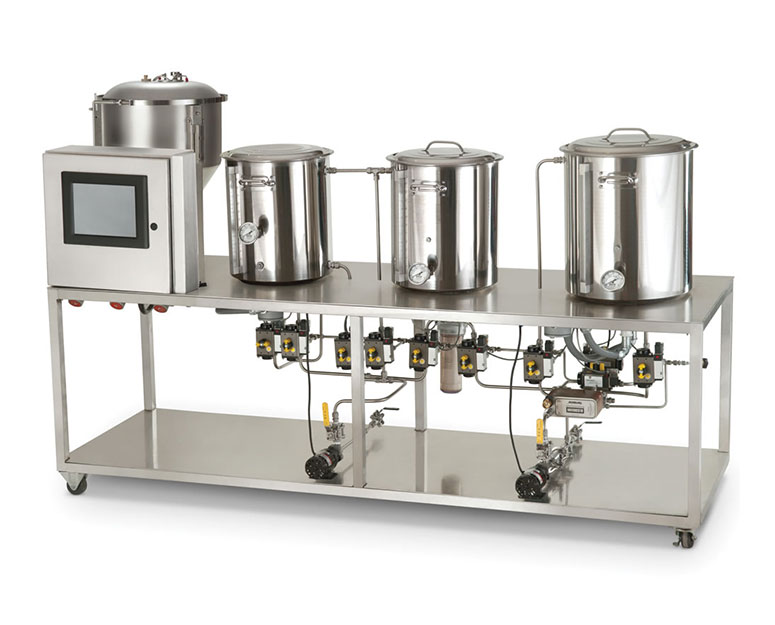 Automated professional microbrewery the green head for Brewery design software