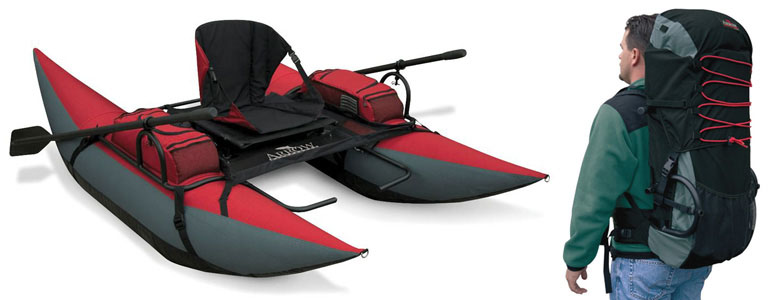 Inflatable Backpack Pontoon Boat The Green Head