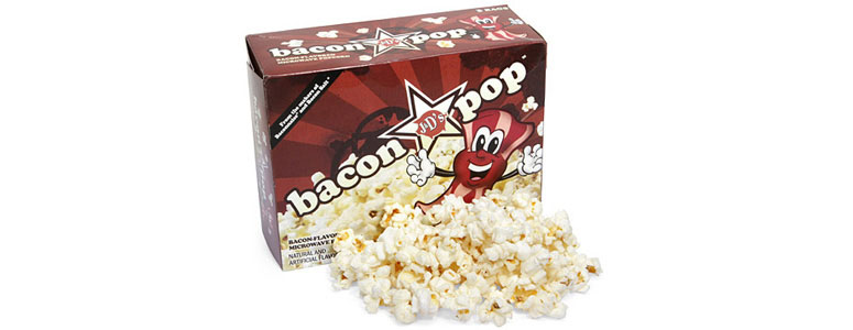 baconpop bacon flavored popcorn the green head
