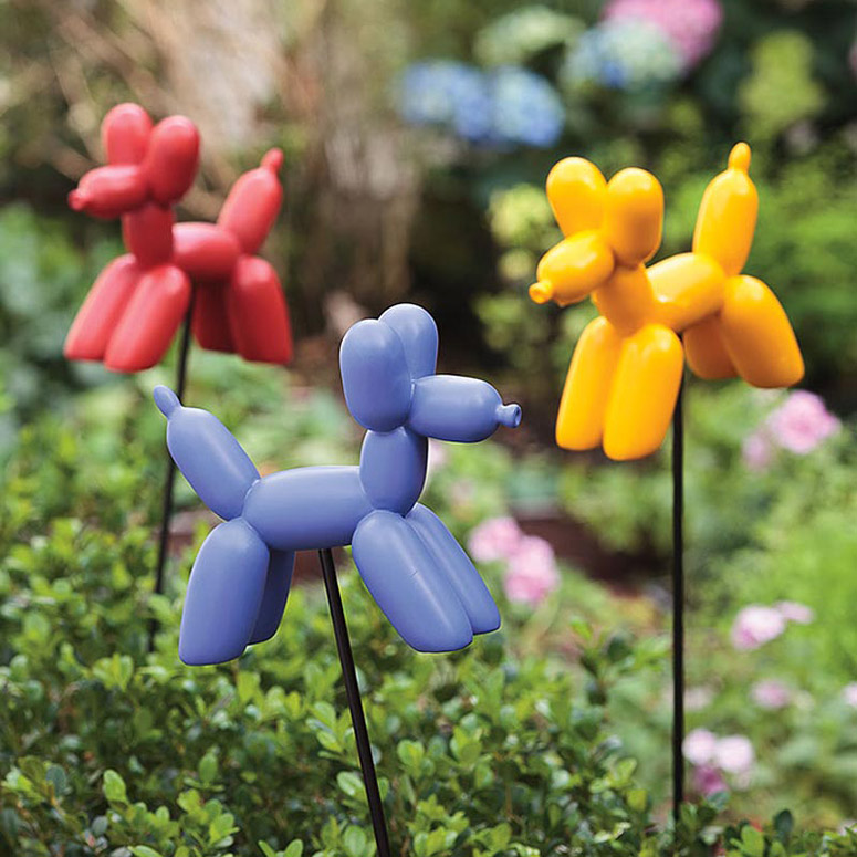 Balloon Dog Garden Stakes