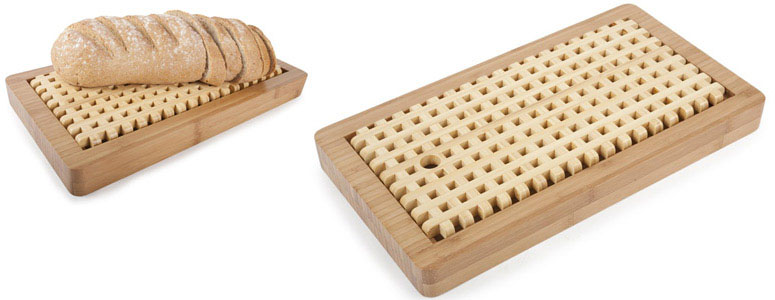 Bamboo Bread Board With Crumb Catcher