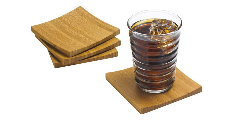 Concave Bamboo Coasters