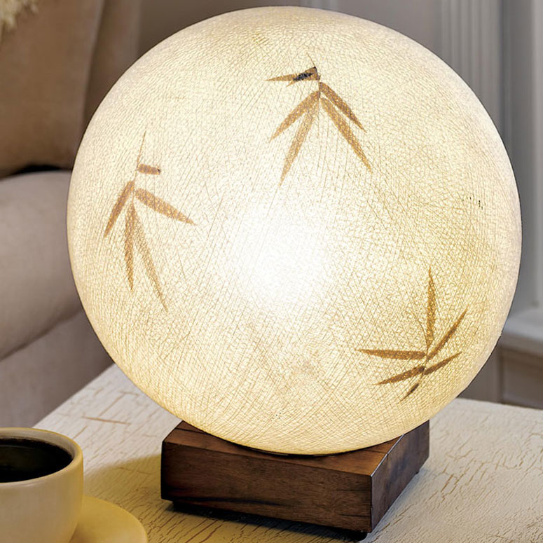 Bamboo Raffia Ball Table Lamp