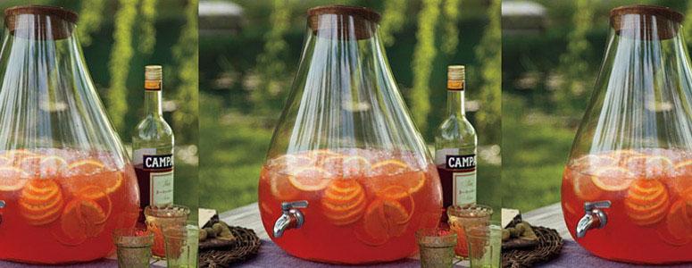 Banchetto Handblown Glass Drink Dispenser The Green Head