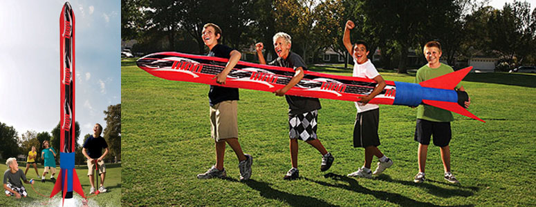 Banzai Titan Blast Inflatable Rocket - Launches over 100' in the air!