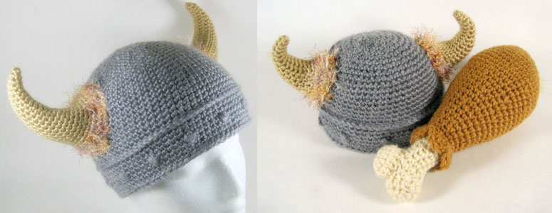 Barbarian Viking Knitted Hat - The Green Head