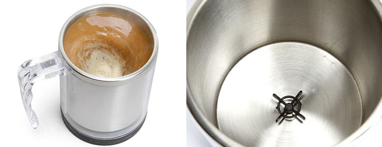 Battery Operated Auto-Stir Coffee Mug - Mixes Your Coffee, Cream & Sugar!