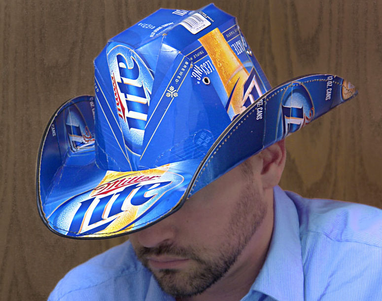 Beer Box Cowboy Hats