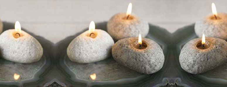 Beeswax Rock Candles