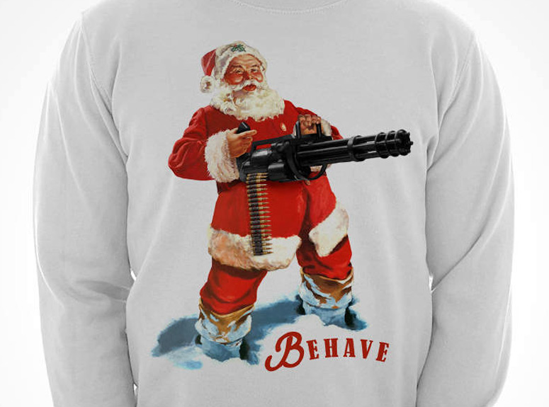 Behave Christmas Sweatshirt