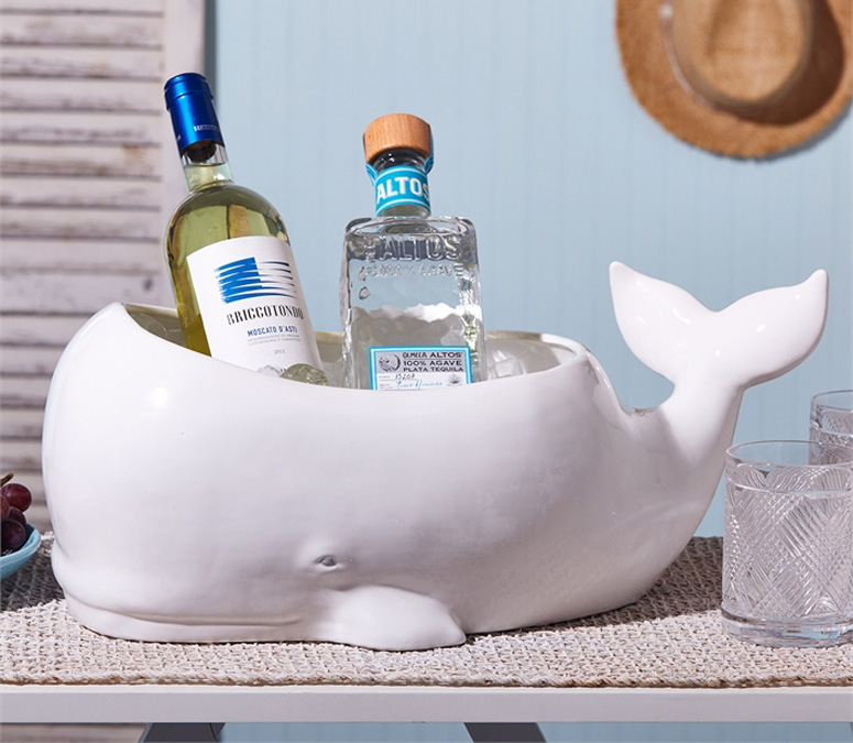 Beluga Whale Planter / Beverage and Ice Tub - The Green Head