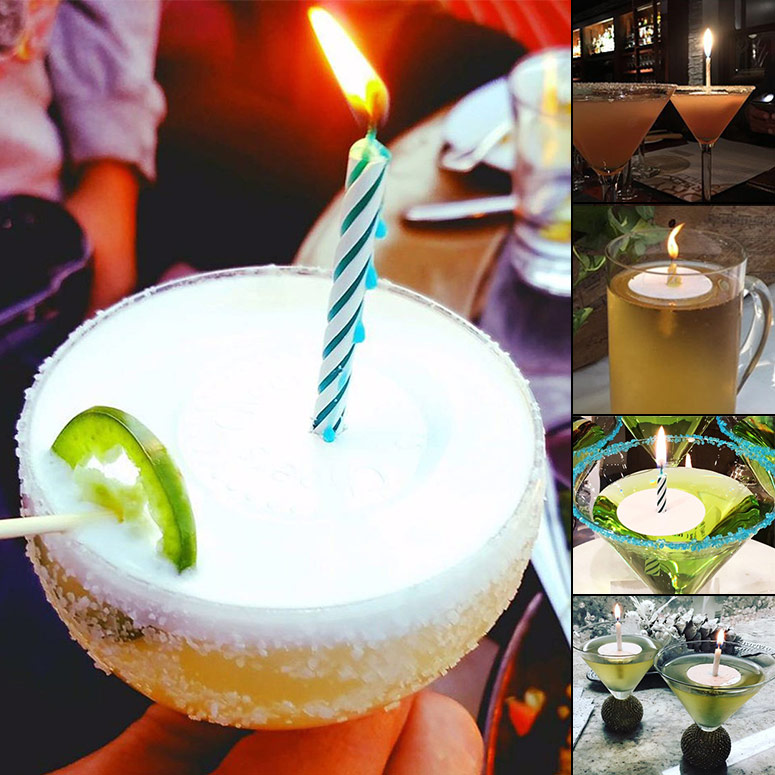 Bevlites - Floating Birthday Candle Holders For Drinks