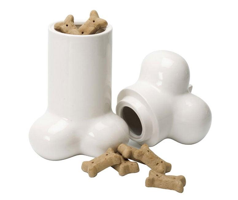 Big Bone Ceramic Dog Treat Cookie Jar The Green Head