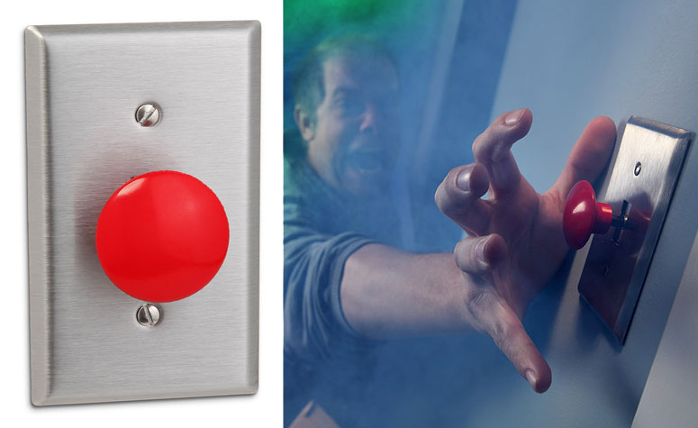 Big Red Panic Button Light Switch The Green Head