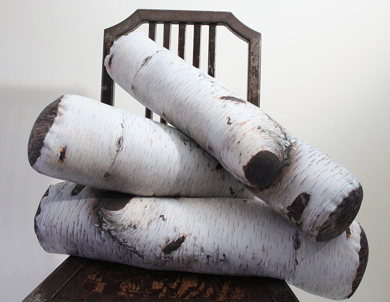 Birch Tree Log Pillows