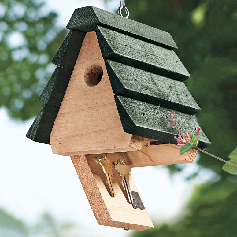 Birdhouse Key Hider