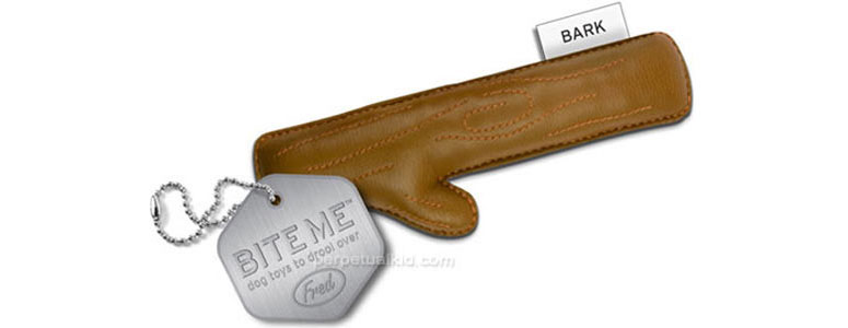 BITE ME! - Leatherette Stick Dog Chew Toy