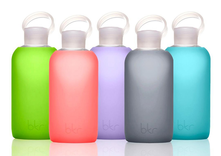 bkr Bottle - Glass Bottle + Soft Silicone Sleeve