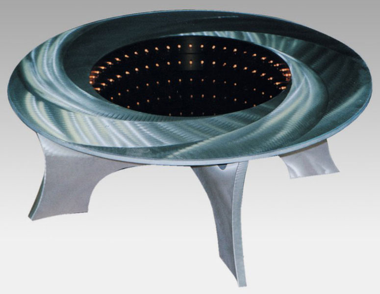 Black Hole Illuminated Coffee Table