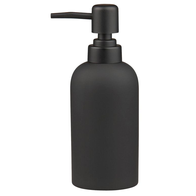 Black Rubber Coated Soap Dispenser