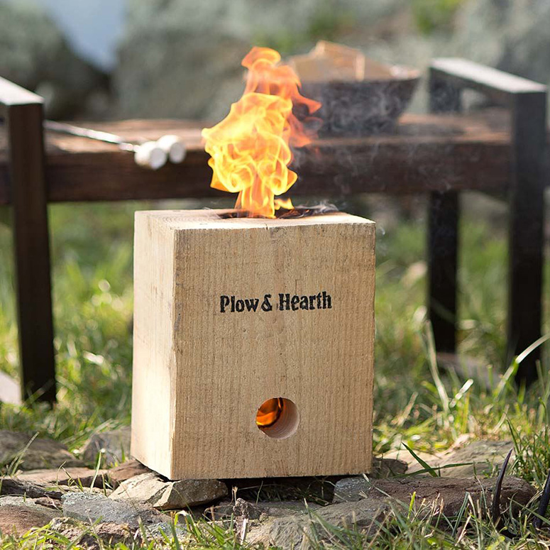 BlazingBlock - Portable Self-Contained Wood Bonfire