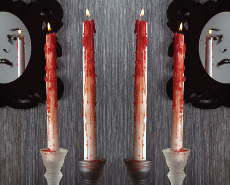 Bleeding Taper Candles The Green Head