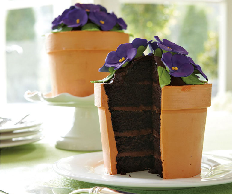 Blooming Flower Pot Cake The Green Head