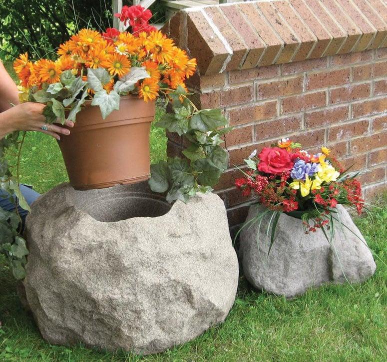 Faux Rock Planters Faux Rock Planters