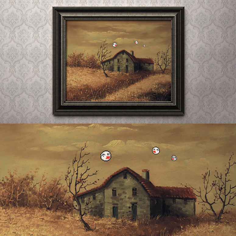 Boo's Place - 8-Bit Repurposed Painting