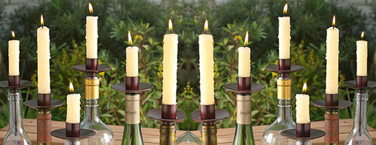 Bottelabra - Empty Wine Bottle Candelabra