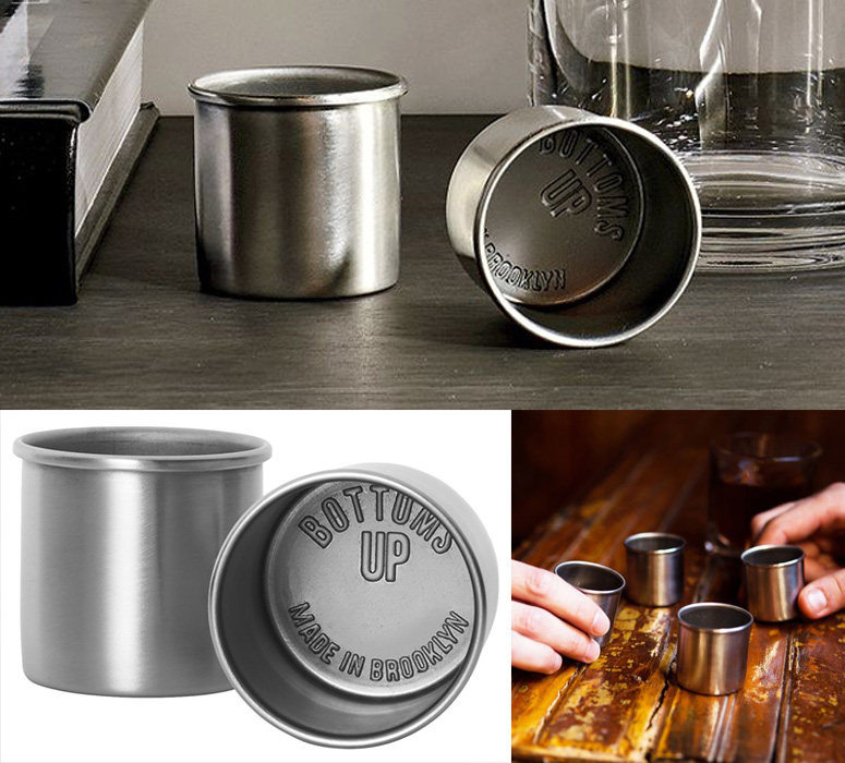 Bottoms Up Stainless Steel Shot Glasses The Green Head