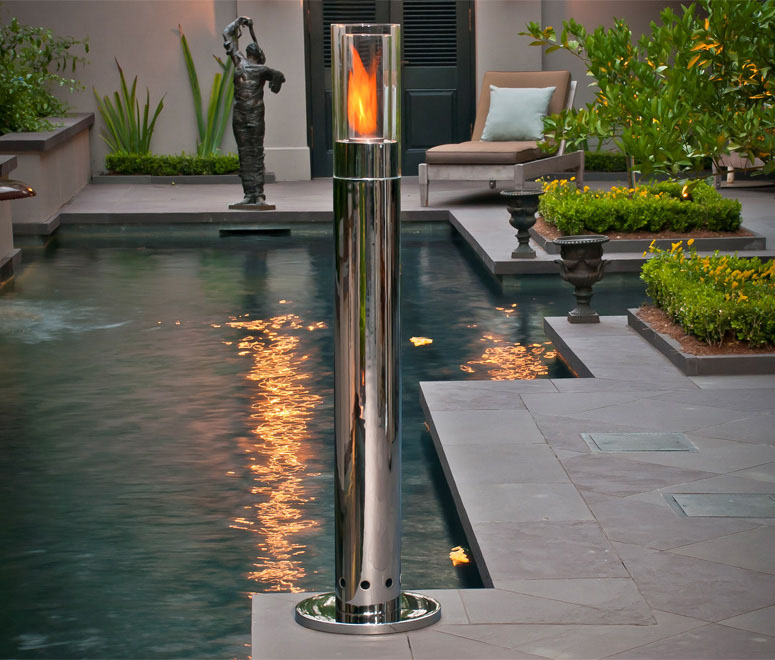 Brasafire Indoor Outdoor Fire Pillar The Green Head