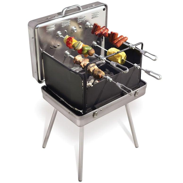 Brazilian Barbecue Briefcase   Portable Rotisserie Grill