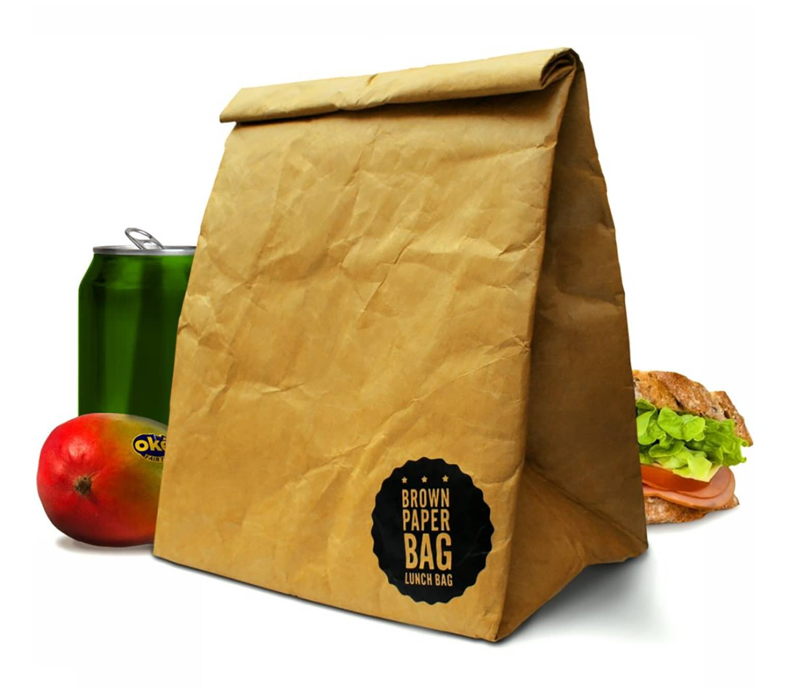 Brown Paper Bag Insulated And Reusable Lunch