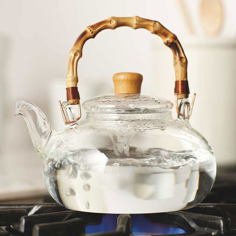 Buddha Belly Glass And Bamboo Tea Kettle The Green Head